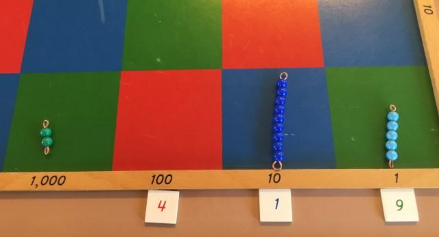 Montessori multiplication