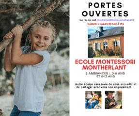 Portes-ouvertes dans notre école Montessori Athéna de Montherlant