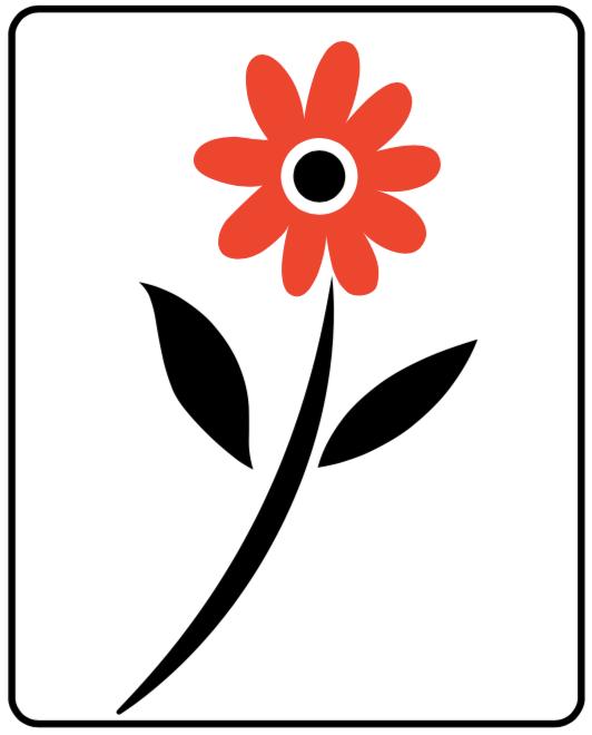 Image d'une fleur noir et rouge