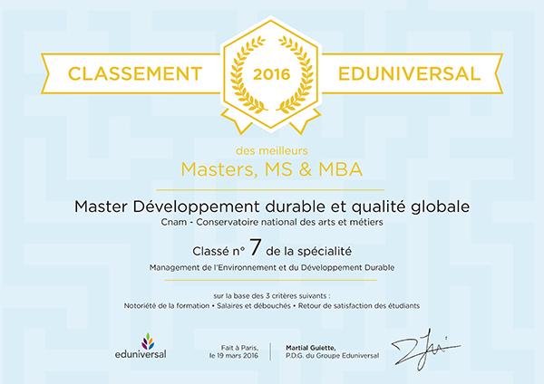 classement smbg 2016   une progression de 5 places pour le master d u00e9veloppement durable et