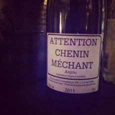 Attention! Chenin méchant... très bon, en fait!