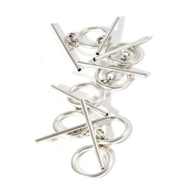 Axon silver and garnets bracelet