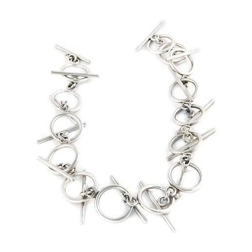 Axon silver necklace