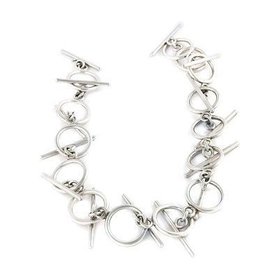 Axon silver necklace