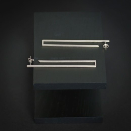 Boucles d'oreilles longues en argent collection Mind The Gap