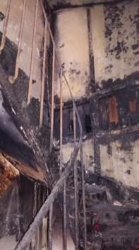 Escalier incendié