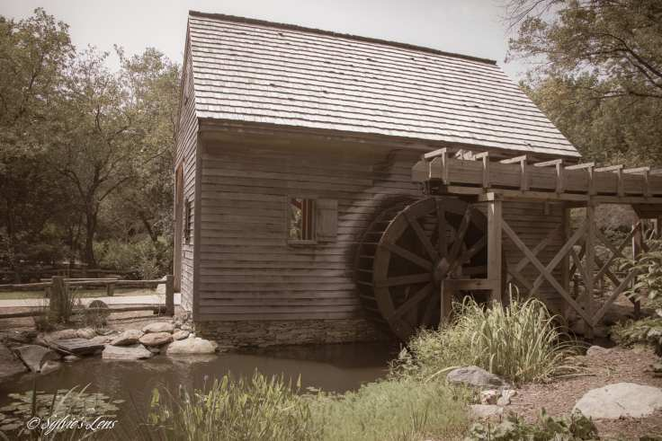 The Old Mill is reminiscent of a mill that David Caldwell operated on this site in 1780