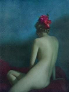 Divine #1 (2013) Technique mixte, numérique et Polaroid. LiLiROZE. Courtoisie Galerie Carole Decombe