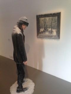 Série Natures Mortes, 2013-14 - Autoportrait face au tableau dhiver - Présenté par Odile Ouizeman