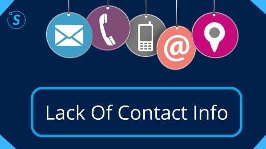 Lack Of Contact Info