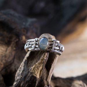 Bague en argent pierre Opale