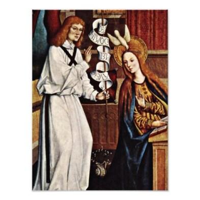 Annunciation by Bartholomaus Zeitblom
