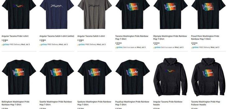 Screenshot of Angular Tacoma brand products on Amazon