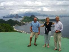 Group shot of the crew at Niteroi overlooking Rio de Janeiro - Lawrence, Sally and the skipper