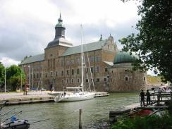 Vadstena castle – the quayside is actually part of the moat