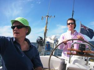 Mina2's new skipper and helmswoman