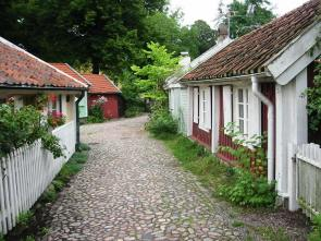 Typical old street in Kalmar