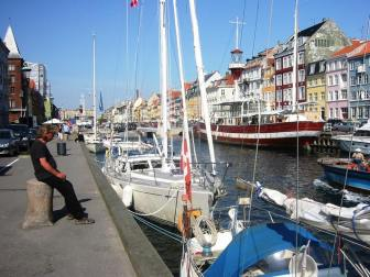 Our berth in Copenhagen's Nyhavn – conveniently by the massage parlour!