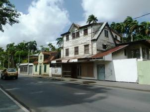 Typical house in Paramaribo, the capital of Suriname