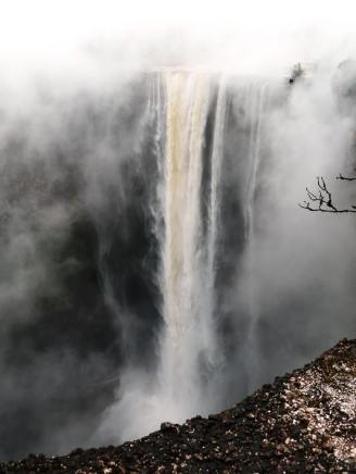 At 741 feet - three times higher than Niagara - the Kaieteur Falls is the highest single drop waterfall in the world. We were the only people there