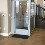 Symmetry Vertical Platform Lift Enclosed in Commercial Setting installed by Adaptive Environments