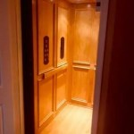 Symmetry Home Elevator Recessed panel with trim