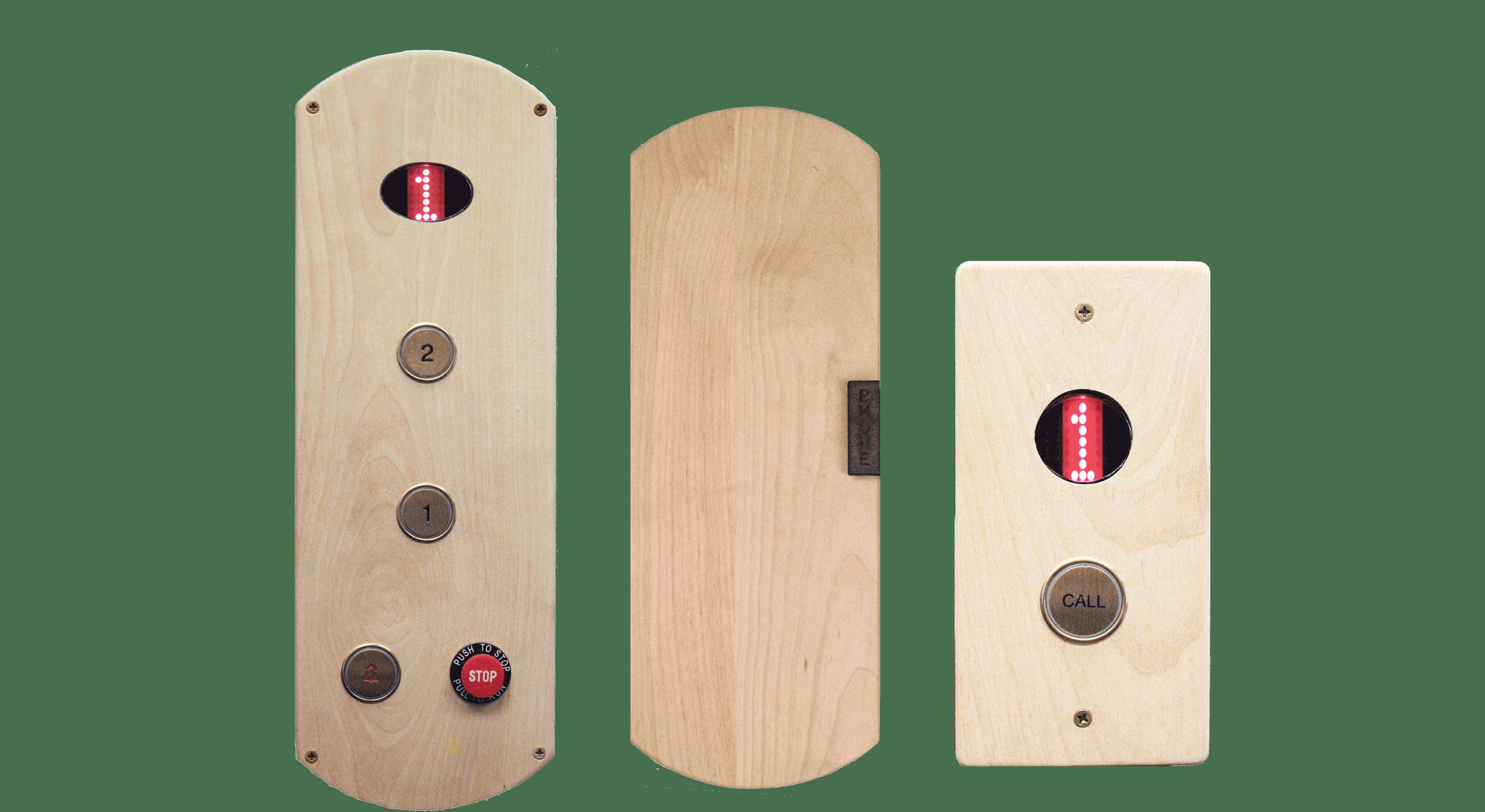 Wood Fixtures for Home Elevators