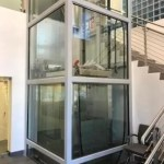 Symmetry LU/LA Elevator Glass and Stainless Steel Car Overhead Clearance Device