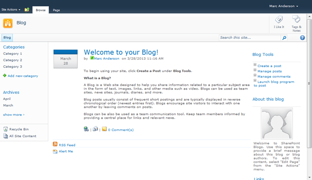 Displaying blog posts in different sites in sharepoint for Sharepoint 2013 blog template