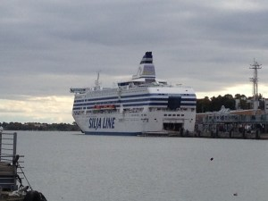 Silja Symphony at port in Helsinki