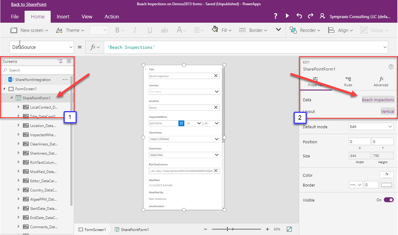 PowerApps Tip: Setting a SharePoint List Lookup Column