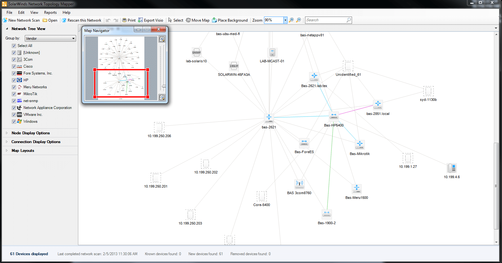 Solarwinds Network Topology Mapper