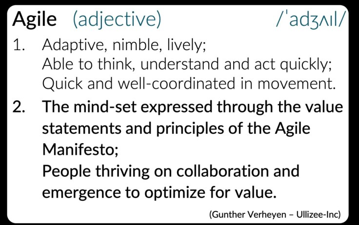 Agile meaning by Gunther