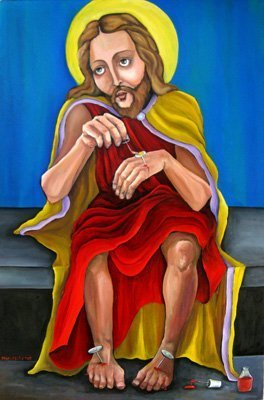 Jesus does his nails