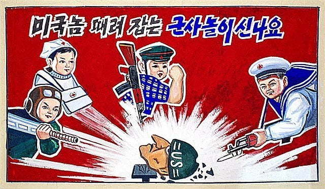 A DPRK propaganda poster