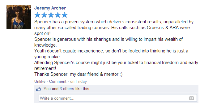 """A Proven System which Delivers Consistent Results"" - Jeremy Archer"