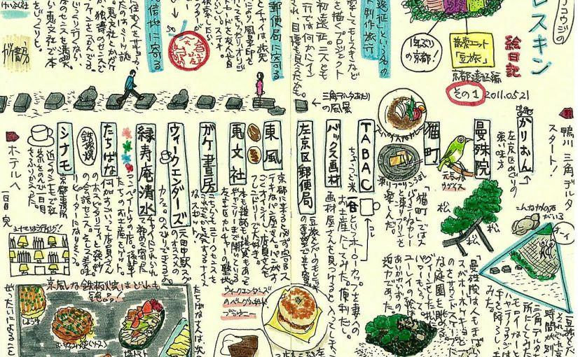 モレスキン絵日記:京都旅行編(豆旅) 2011年5月(ブログ記事復刻版)