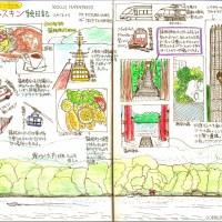 モレスキン絵日記:箱根旅行編 その1 ダイジェスト