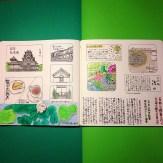 モレスキン絵日記:松本散策編。全体像。