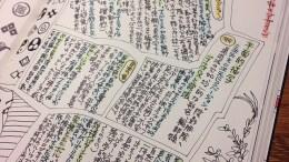 モレスキンのスケッチアルバムでの勉強メモ。飽きないように、きれいにまとめず斬新な感じにしている。