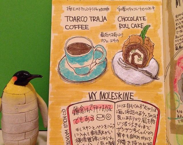 (作品)トアルコトラジャの珈琲と、和栗のチョコレートロールケーキ。