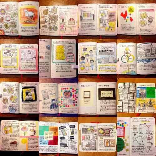 モレスキンのデイリーダイアリーに続けているモレスキン絵日記。3月も毎日描きました。いろいろと素晴らしい新展開があって多忙ながら充実した1ヶ月でした。