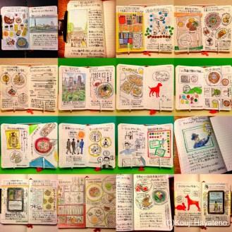 モレスキンのデイリーダイアリーに続けているモレスキン絵日記。5月も毎日描きました。思い切って実践したことが、いろいろとうまくいった月でした。