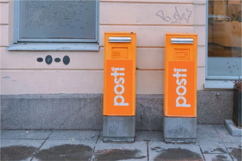 ヘルシンキのポスト。