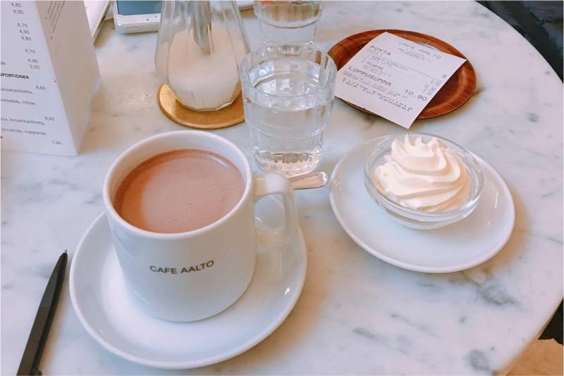 カフェ・アールトでココア