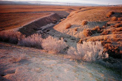 San Andreas Fault, Carrizo Plain. beeld: Siminneman