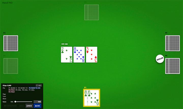 Poker Neural Network Example