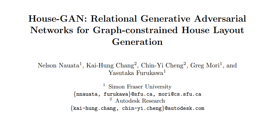 House-GAN: Relational Generative Adversarial Networks for Graph-constrained House Layout Generation