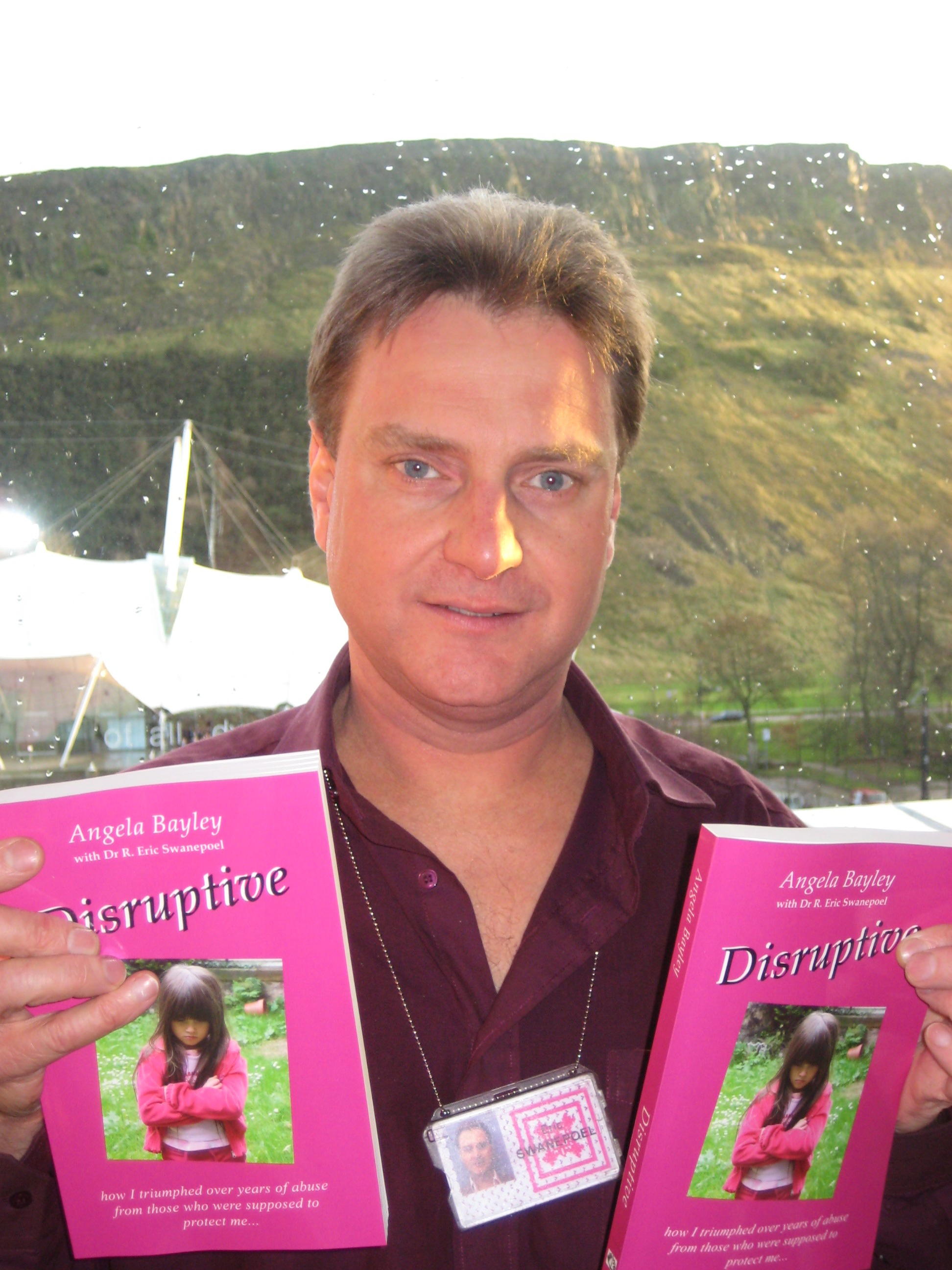 Eric, having just taken delivery of the first copies of 'Disruptive' from the printers