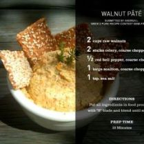 My Winning Walnut Pate - Pure Bar Contest 2011